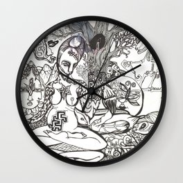 Bison Yogini ~ Fertility Wall Clock