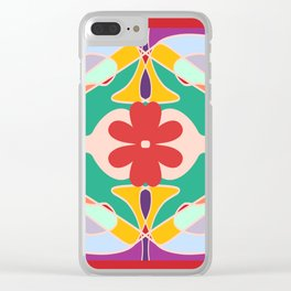 Picnic in the Poppies Clear iPhone Case
