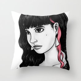 Untitled (pink streak) Throw Pillow