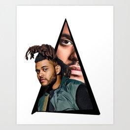 Youtriangle ∆ The Weeknd Art Print