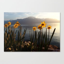 Swiss Riviera Lakeside III Canvas Print
