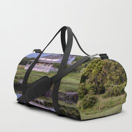 Essex river house reflection Duffle Bag
