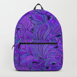 paisley paisley purple Backpack