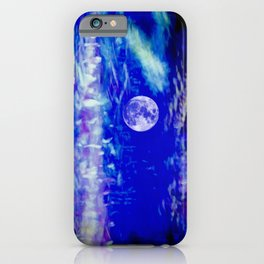 winter moon abstract digital painting iPhone Case
