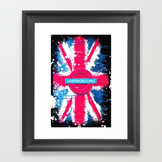 UNDERGROUND - for IPhone - Framed Art Print
