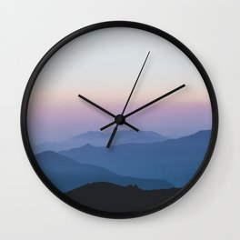 Sunset in the Annapurnas Wall Clock