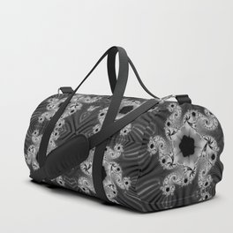 Black and White Pattern Duffle Bag