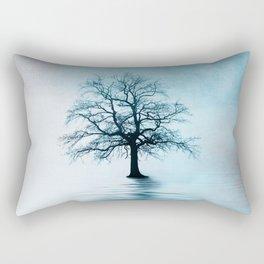 Standing in the rain Rectangular Pillow
