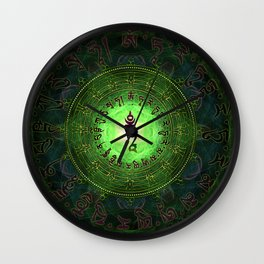 Green Tara Mantra- Protection from dangers and suffering Wall Clock