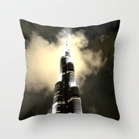 wiz khalifa Throw Pillows featuring Burj Khalifa - Dubai by Ruby_Dag