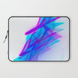 Abstract Calligraphy Aqua and Magenta Laptop Sleeve