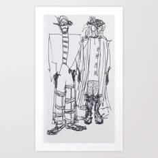 Fashion Doodle #4 Art Print