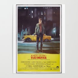 Taxi Driver Poster Artwork for Prints, Posters, Postcards, Tshirts, Bags, Men, Women, Kids Poster