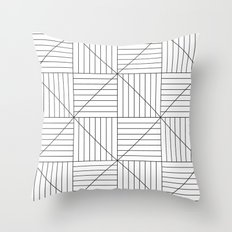 Hypnotic Lines Throw Pillow