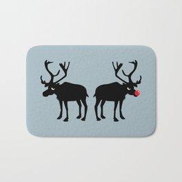 Angry Animals: Rudolph & Prancer Bath Mat
