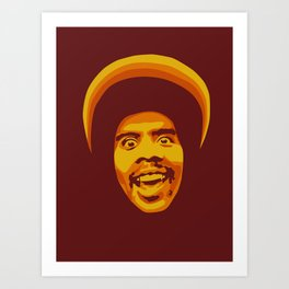70s style Disco Afro [cutout] Art Print
