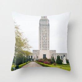 Louisiana State Capitol Throw Pillow