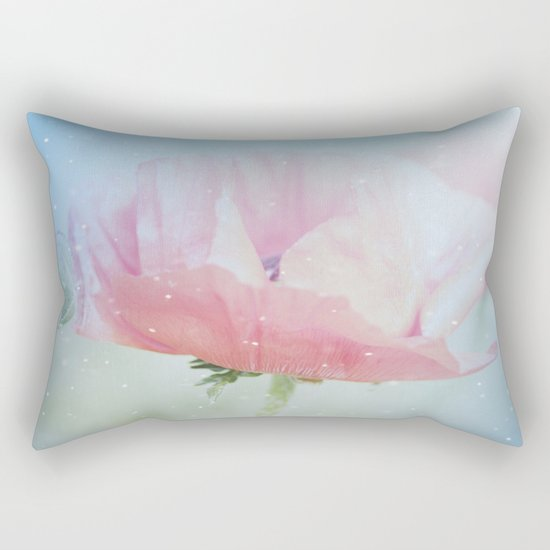 Snowflakes Poppies Rectangular Pillow