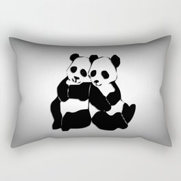 Panda Bears Rectangular Pillow