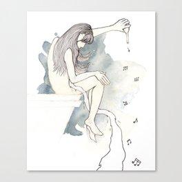 Fluid sound Canvas Print