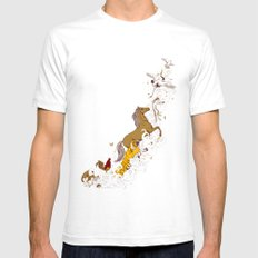 Magic paintbrush White SMALL Mens Fitted Tee