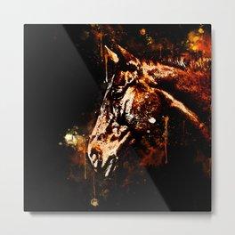 horse splatter watercolor Metal Print