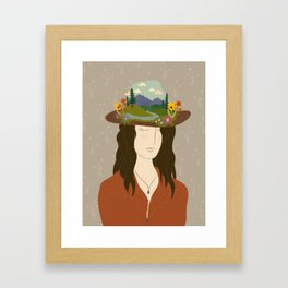 Montana On My Mind Framed Art Print