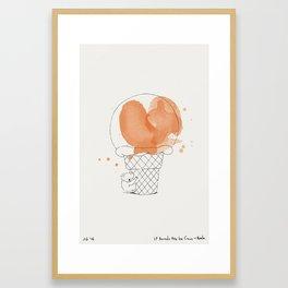 If Animal Ate Ice Cream - Koala Framed Art Print