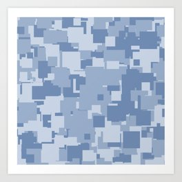 Light Blue Squares Art Print