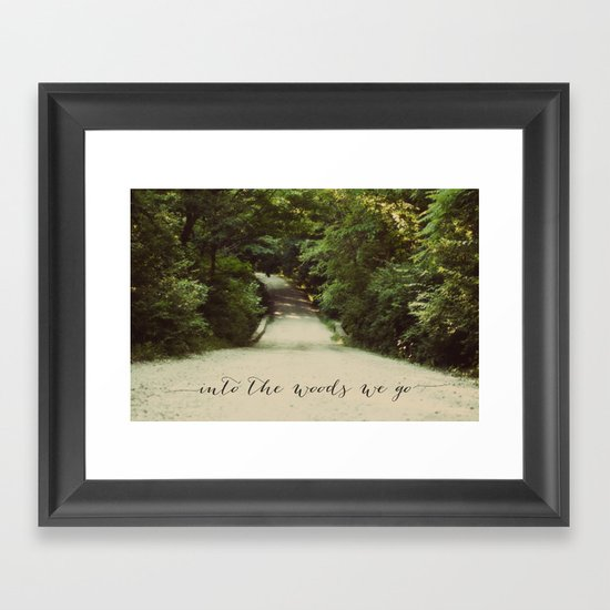 into the woods we go Framed Art Print