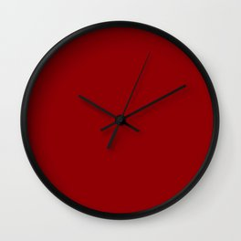 Colors of Autumn Dark Red Tomato Solid Color Wall Clock