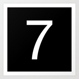 Number 7 Art Print