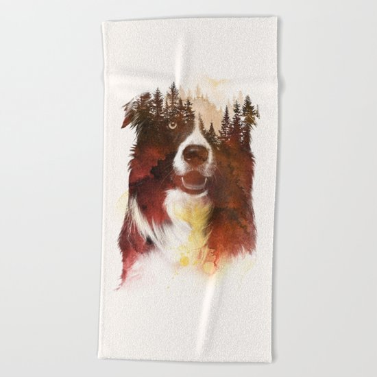 One night in the forest Beach Towel