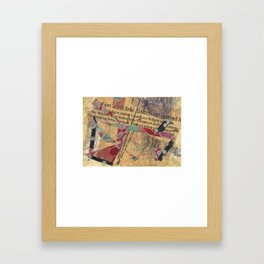 Stitch on the Dotted.. Framed Art Print