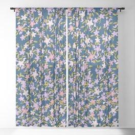 Garden Ditzy - Purple Sheer Curtain