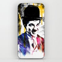 charlie chaplin iPhone & iPod Skins featuring charlie chaplin by manish mansinh