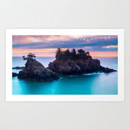 Sunset at Thunder Rock Cove, Oregon Art Print