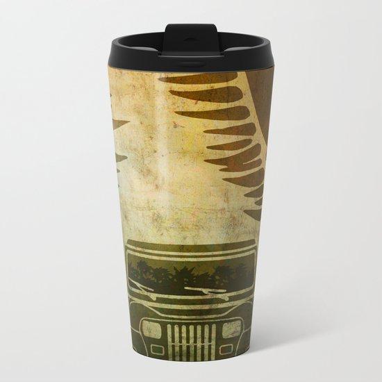 Jurassic Minimalist Metal Travel Mug