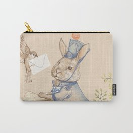 Bunny and Sparrow Carry-All Pouch