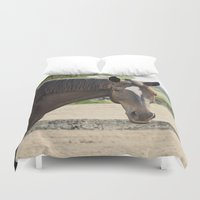 charlie brown Duvet Covers featuring Charlie by Images by Nicole Simmons