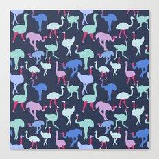 Ostrich Pattern Canvas Print