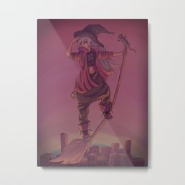 The Pirate Witch Metal Print