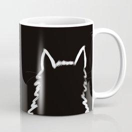 Black Cat In The Light Coffee Mug