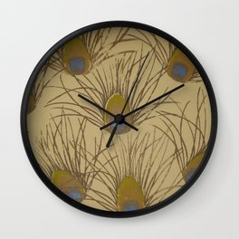 Peacock Screenprint Wall Clock