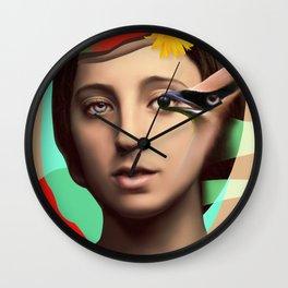 Girl looking Wall Clock