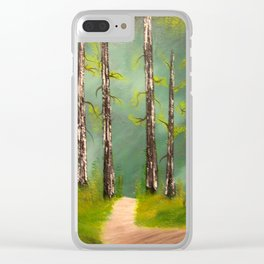 Quiet Forest Clear iPhone Case