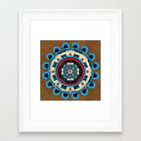 sacred geometry Framed Art Prints featuring Sacred Geometry by Angel Decuir