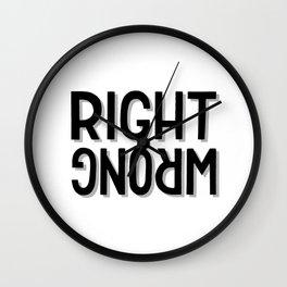 Right / wrong Wall Clock