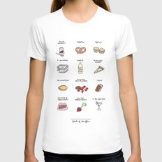 Foods of The Office White Womens Fitted Tee LARGE