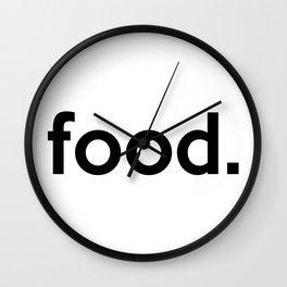 food. Wall Clock